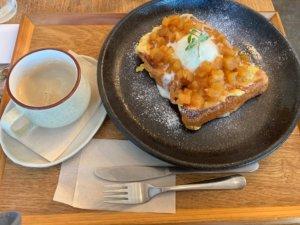 高円寺「light side cafe」のフレンチトースト