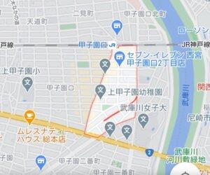 甲子園口駅の地図